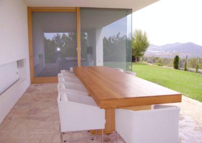 Carpintería Gregori / terraza, mesa
